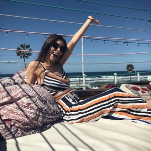 🔥 Tropical Two piece striped tank jumpsuit 🔥